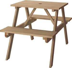 テーブル&ベンチ W75 ODS-91LBR ダイニングチェアー チェアー テーブル 食卓 屋外 アウトドア ガーデン 庭 カフェ風 チェア イス 椅子 いす 北欧 ダイニングチェア おしゃれ インテリア 家具 新生