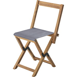 フォールディングチェア NX-530GY グレー / 折りたたみ ポータブル チェア 腰掛 椅子 簡易 屋外 屋内 アウトドア 兼用 ベンチ ソファ キャンプ 海水浴 海 プール 木製 おしゃれ アジアン BBQ グラ