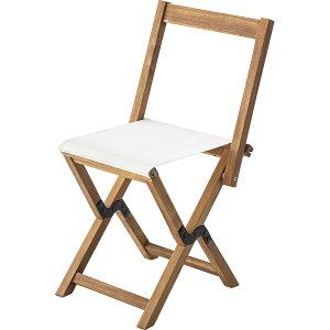 フォールディングチェア NX-530IV アイボリー / 折りたたみ ポータブル チェア 腰掛 椅子 簡易 屋外 屋内 アウトドア 兼用 ベンチ ソファ キャンプ 海水浴 海 プール 木製 おしゃれ アジアン BBQ