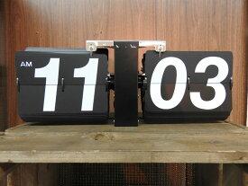 フリップクロック clk-118bk パタパタと音をたてて時間を刻む 置き時計 時計 デジタル時計 アナログ時計 ぱたぱた時計 電池式 置時計 おしゃれ インテリア 家具 新生活 一人暮らし