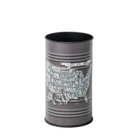 ダストボックス lfs-431b スチール缶 ゴミ箱 ごみ箱 ビンテージ ヴィンテージ アメリカ 雑貨 米国 丸型 筒型 おしゃれ インテリア 家具 新生活 一人暮らし