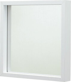 ミラーL mu-034wh  かわいい 壁掛け 洗面所 壁かけ ウォールミラー コンパクトミラー 手鏡 鏡 メイク スタンド 鏡台 化粧鏡 トイレ 丸 四角 アンティーク おしゃれ インテリア 家具 新生活 一人暮らし