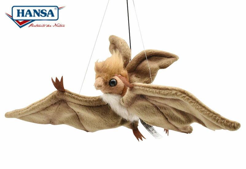 HANSA コウモリ 37 ブラウン 37cm 吊り下げ 蝙蝠 BAT HANGING リアル ぬいぐるみ ハンサ クリスマス 誕生日 プレゼント 動物 アニマル 置物 人形 フィギュア KOESEN ケーセン カロラータ 大きい マスコット 実物大 大型 バットマン