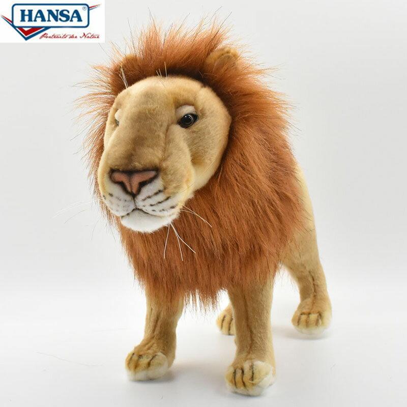 HANSA BH3540 ライオン(オス) 38 雄ライオン 38cm LION FAMILY SAFARI リアル ぬいぐるみ ハンサ クリスマス 誕生日 プレゼント 動物 アニマル 置物 人形 フィギュア KOESEN ケーセン カロラータ 大きい マスコット 実物大 大型 3540 レオ 獅子