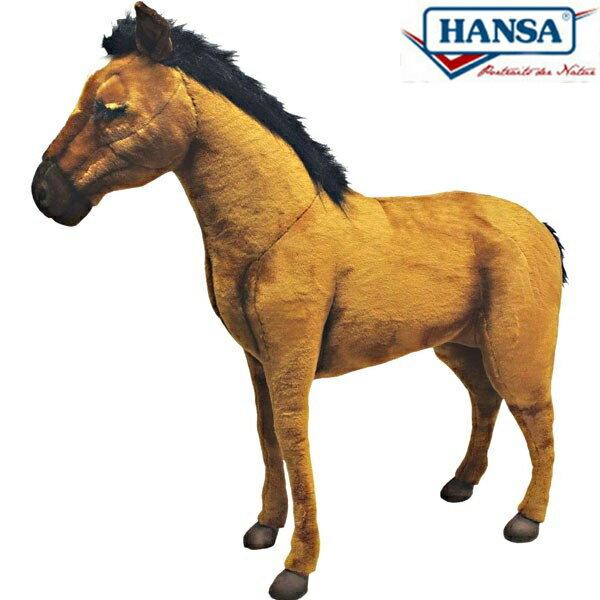 HANSA 3656 ウマ108 全長:108cm HORSE BROWN S BH3656 ぬいぐるみ ハンサ 馬 クリスマス 誕生日 プレゼント 動物 犬 猫 鳥 うさぎ ペンギン アニマル 置物 人形 フィギュア KOESEN ケーセン カロラータ 大きい マスコット 実物大 大型