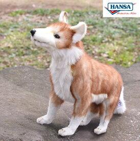 HANSA 5207 コヨーテ 35cm COYOTE STANDING BH5207 もオオカミ キツネ ぬいぐるみ ハンサ クリスマス 誕生日 プレゼント 動物 犬 猫 鳥 うさぎ ペンギン アニマル 置物 人形 フィギュア KOESEN ケーセン カロラータ 大きい マスコット 実物大 大型