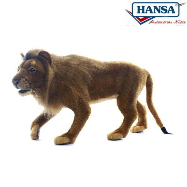 HANSA 5613 ライオン(オス)90 全長:90cm STANDING LION BH5613 ぬいぐるみ ハンサ クリスマス 誕生日 プレゼント 動物 犬 猫 鳥 うさぎ ペンギン アニマル 置物 人形 フィギュア KOESEN ケーセン カロラータ 大きい マスコット 実物大 大型