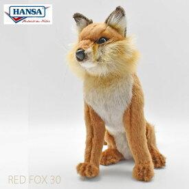 HANSA BH6098 アカギツネ 30 RED FOX 30cm リアル ぬいぐるみ ハンサ クリスマス 誕生日 プレゼント 動物 アニマル 置物 人形 フィギュア KOESEN ケーセン カロラータ キツネ 狐 きつね 実物大 大型 6098