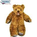 HANSA 6187 ヒグマ47 全長:47cm BROWN BEAR BH6187 ぬいぐるみ ハンサ クマ 熊 ベア ベアー テディベア クリスマス 誕生日 プレゼント 動物 犬 猫 鳥 うさぎ