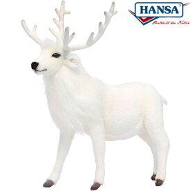 HANSA 6188 シロトナカイ40 全長:40cm REINDEER WHITE BH6188 ぬいぐるみ ハンサ クリスマス 誕生日 プレゼント 動物 トナカイ アニマル 置物 人形 フィギュア KOESEN ケーセン カロラータ 大きい マスコット 実物大 大型