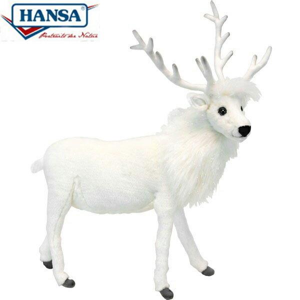 HANSA 6190 シロトナカイ52 全長:52cm REINDEER WHITE BH6190 ぬいぐるみ ハンサ クリスマス 誕生日 プレゼント 動物 犬 猫 鳥 うさぎ ペンギン アニマル 置物 人形 フィギュア KOESEN ケーセン カロラータ 大きい マスコット 実物大 大型