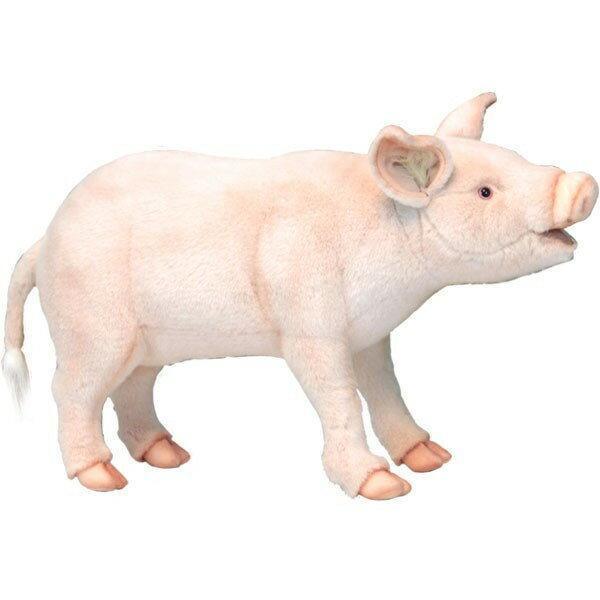 HANSA 6347 ブタ63 全長:63cm PIG STANDING BH6347 ぬいぐるみ ハンサ 豚 クリスマス 誕生日 プレゼント 動物 犬 猫 鳥 うさぎ ペンギン アニマル 置物 人形 フィギュア KOESEN ケーセン カロラータ 大きい マスコット 実物大 大型