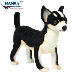 HANSA 6367 チワワ27 全長:27cm CHIHUAHUA (BLACK) BH6367 ぬいぐるみ ハンサ クリスマス 誕生日 プレゼント 動物 犬 猫 鳥 うさぎ ペンギン アニマル 置物 人形 フィギュア KOESEN ケーセン カロラータ 大きい マスコット 実物大 大型
