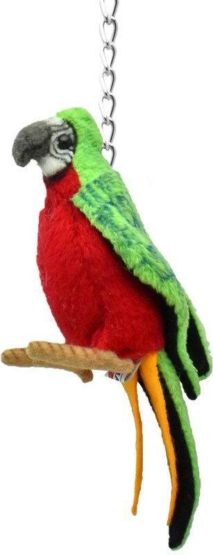 HANSA6459キーホルダーオウム14cmPARROTKEYCHAINBH6459キーチェーンファーぬいぐるみハンサクリスマス誕生日プレゼント動物鳥小鳥アニマル置物人形フィギュアKOESENケーセンカロラータ大きいマスコット実物大大型