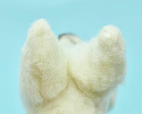 HANSA6582キーホルダーイヌ11.5cmPUPPYKEYCHAINBH6582キーチェーンファーぬいぐるみハンサクリスマス誕生日プレゼント動物犬アニマル置物人形フィギュアKOESENケーセンカロラータ大きいマスコット実物大大型