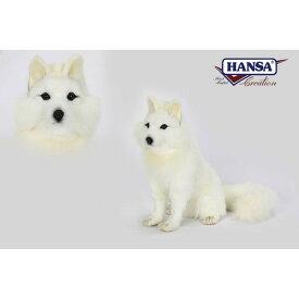 HANSA 6823 ホッキョクギツネ30 全長:30cm SNOW FOX SIT BH6823 ぬいぐるみ ハンサ 北極ギツネ 北極狐 クリスマス 誕生日 プレゼント 動物 犬 猫 鳥 うさぎ ペンギン アニマル 置物 人形 フィギュア KOESEN ケーセン カロラータ 大きい マスコット 実物大 大型