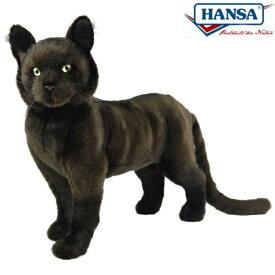 HANSA 7027 クロネコ37 全長:37cm CAT STANDINGBOMBAY BH7027 ぬいぐるみ ハンサ 黒猫 クリスマス 誕生日 プレゼント 動物 犬 猫 鳥 うさぎ ペンギン アニマル 置物 人形 フィギュア KOESEN ケーセン カロラータ 大きい マスコット 実物大 大型