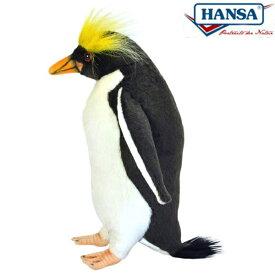 HANSA 7092 マカロニペンギン23 全長:23cm MACARONI PEN BH7092 ぬいぐるみ ハンサ クリスマス 誕生日 プレゼント 動物 犬 猫 鳥 うさぎ ペンギン アニマル 置物 人形 フィギュア KOESEN ケーセン カロラータ 大きい マスコット 実物大 大型