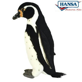 HANSA 7093 フンボルトペンギン23 全長:23cm HUMBOLDT P BH7093 ぬいぐるみ ハンサ クリスマス 誕生日 プレゼント 動物 犬 猫 鳥 うさぎ ペンギン アニマル 置物 人形 フィギュア KOESEN ケーセン カロラータ 大きい マスコット 実物大 大型