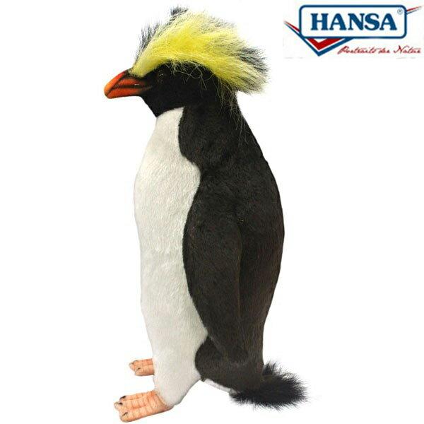HANSA 7097 イワトビペンギン25 全長:25cm ROCK HOPPER BH7097 ぬいぐるみ ハンサ クリスマス 誕生日 プレゼント 動物 犬 猫 鳥 うさぎ ペンギン アニマル 置物 人形 フィギュア KOESEN ケーセン カロラータ 大きい マスコット 実物大 大型