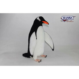 HANSA 7106 ジェンツーペンギン68 全長:68cm GENTOO PEN BH7106 ぬいぐるみ ハンサ クリスマス 誕生日 プレゼント 動物 犬 猫 鳥 うさぎ ペンギン アニマル 置物 人形 フィギュア KOESEN ケーセン カロラータ 大きい マスコット 実物大 大型