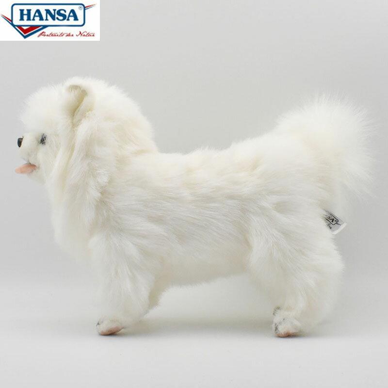 HANSA BH7324 ポメラニアン 46 POMERANIAN DOG WHITE 46cm 犬 ドッグ 愛犬 リアル ぬいぐるみ ハンサ クリスマス 誕生日 プレゼント 動物 アニマル 置物 人形 フィギュア KOESEN ケーセン カロラータ 大きい マスコット 実物大 大型 7324