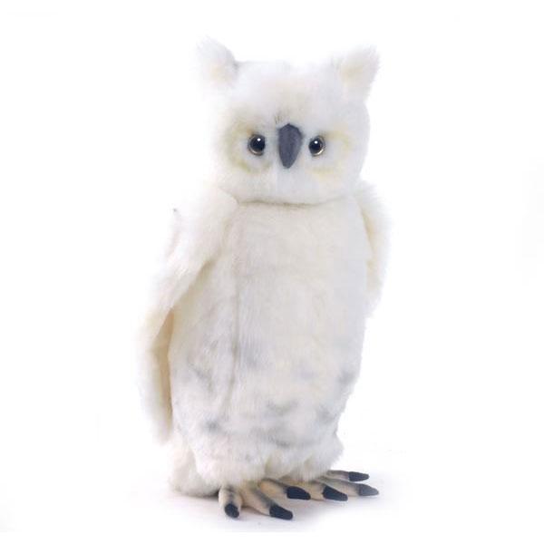 HANSA 白フクロウ33 H33(cm) 3836 ぬいぐるみ ハンサ クリスマス 誕生日 プレゼント 動物 犬 猫 鳥 うさぎ ペンギン アニマル 置物 人形 フィギュア KOESEN ケーセン カロラータ 大きい マスコット 実物大 大型