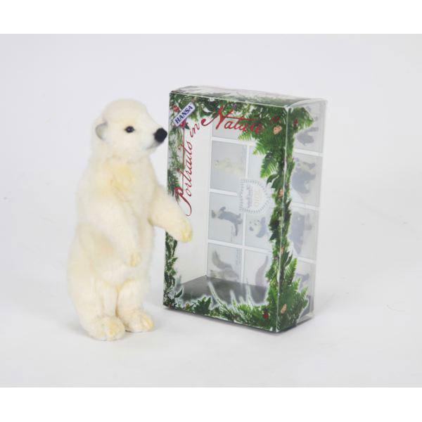 HANSA シロクマ(箱付き)19 H19(cm) 5799 白熊 しろくま 白くま クマ 熊 ベア ベアー テディベア ぬいぐるみ ハンサ クリスマス 誕生日 プレゼント 動物 犬 猫 鳥 うさぎ ペンギン アニマル 置物 人形 フィギュア KOESEN ケーセン カロラータ 大きい マスコット 実物大 大型