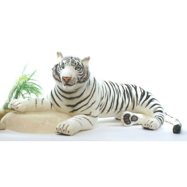 HANSA ホワイトタイガー145 L145(cm) 5920 ぬいぐるみ ハンサ 虎 クリスマス 誕生日 プレゼント 動物 犬 猫 鳥 うさぎ ペンギン アニマル 置物 人形 フィギュア KOESEN ケーセン カロラータ 大きい マスコット 実物大 大型
