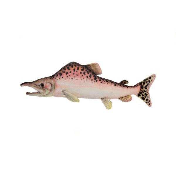 HANSA ピンクサーモン39 L39(cm) 6048 ぬいぐるみ ハンサ 魚 クリスマス 誕生日 プレゼント 動物 犬 猫 鳥 うさぎ ペンギン アニマル 置物 人形 フィギュア KOESEN ケーセン カロラータ 大きい マスコット 実物大 大型