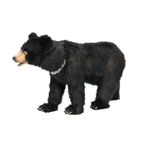 可愛くてリアル!世界的大人気ぬいぐるみHANSAスツール黒クマ105L105(cm)6086HANSA商品2点ご注文で送料無料!