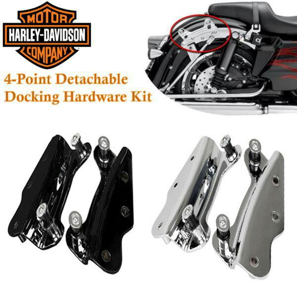 ハーレー 4ポイント ドッキングハードウェア キット ツーリング対応 ツーアップラック デタッチャブル ラック マウント ハーレーダビッドソン Harley-Davidson 純正同等 汎用品 54205-09 54246-09 52300353 52300354