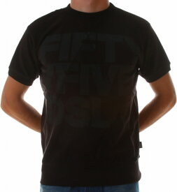 55DSL 正規品 メンズ 半袖スェット Tシャツ フロントBIGロゴ FATHLETICS_00D3VL_00VN8_D900 XS DIESEL ディーゼル FIFTY FIVE DSL ブラック スウェット