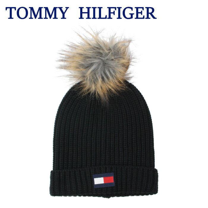 2018年秋冬新作 トミーヒルフィガー ニット帽HTH83201 001 ACRYLIC 100% ボンボンデザイン ニットキャップ 冬 ウインター TOMMY HILFIGER ag-1408