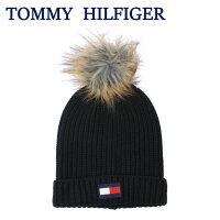 2018年秋冬新作トミーヒルフィガーニット帽HTH83201001ACRYLIC100%ボンボンデザインニットキャップ冬ウインターTOMMYHILFIGERag-1408
