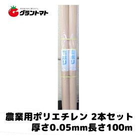 2本セット Fc農ポリ 厚さ0.05mm×幅180cm×長さ100m 農業用ポリエチレン