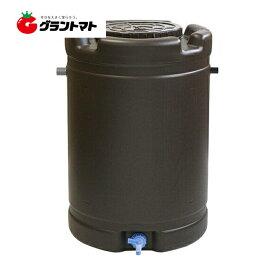 雨水タンク 茶 約185L 60mm丸どい接続 安全興業 【メーカー直送】【法人限定】