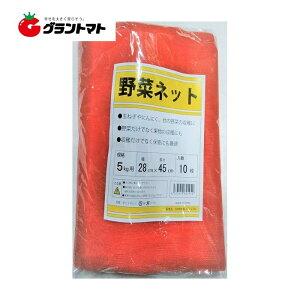 野菜ネット 赤 10枚 5kg 用 収穫袋 シンセイ