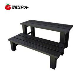 アルミステップ台2段 AKS-2D 74cm アルミス【取寄商品】