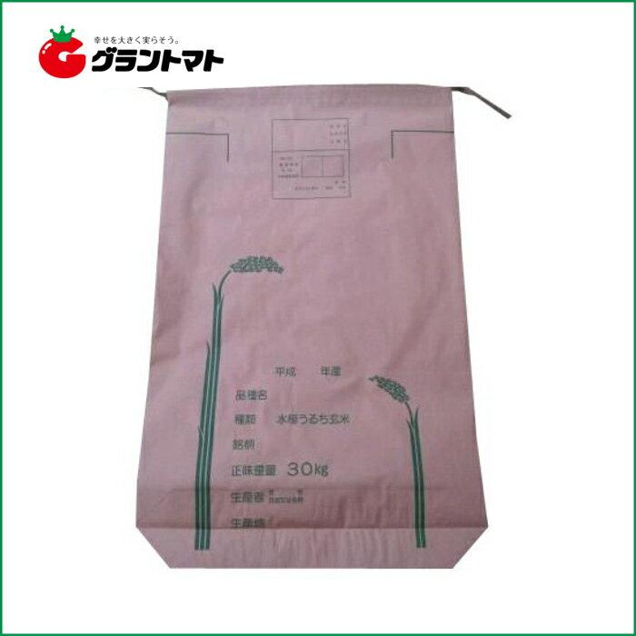 米袋 新袋稲穂絵柄 30kg 100枚 3重構造の頑丈な紙袋