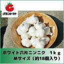 ホワイト六片ニンニク種子 1kg Mサイズ(約18個) 【青森県産】
