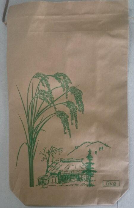 米袋 新袋稲穂印刷 5kg 2重構造の紙袋