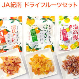 【JA紀南】ドライフルーツ ドライフルーツ はっさく、清見オレンジ、南高梅各3袋(計9袋セット)【代引き不可】【natsu_dg】
