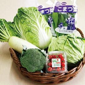 【送料無料】紀州てまり野菜セット 和歌山特産品セット(野菜セット:白菜1個、キャベツ1個、小松菜2袋、布引大根1本、ミニトマトパック1P、ブロッコリー1個)【代引き不可】※画像はイメージです。 cov ふるさとの便り ※のし・包装 対応不可