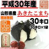 平成30年産山形県産あきたこまち玄米30kg