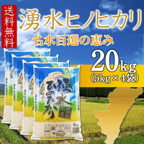29年産 ヒノヒカリ 20kg (白米 5kg×4袋) 鹿児島県湧水町産 (九州・宮崎県から直送)