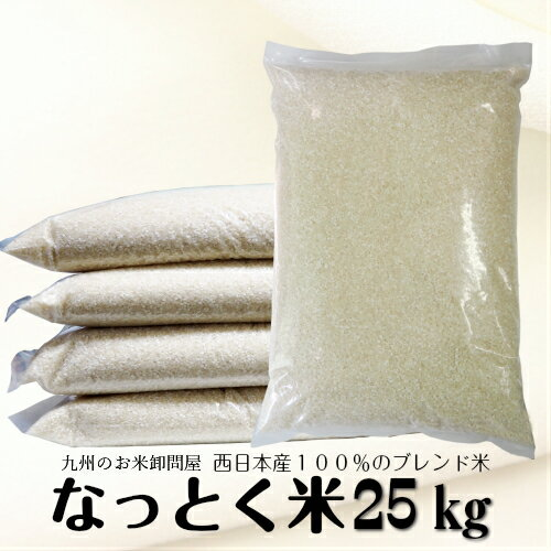 米 25kg 送料無料 なっとく米 <複数原料米> エコパッケージ仕様