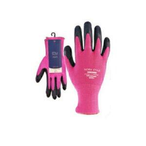 のらスタイル 13G天然ゴム背抜き手袋 ピンク S