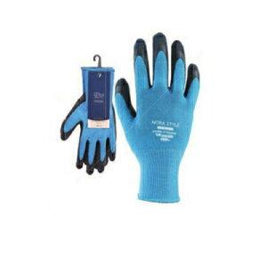 のらスタイル 13G天然ゴム背抜き手袋 ブルー S