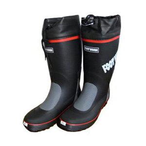 シンセイ 長靴 紳士艶消しカバー付 黒 L 25.5〜26.0cm